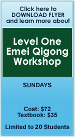 Level One Emei Qigong Workshop Flyer and Registration Info
